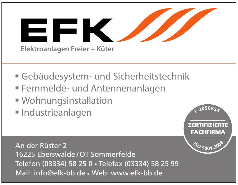 EFK Elektroanlagen Freier + Küter