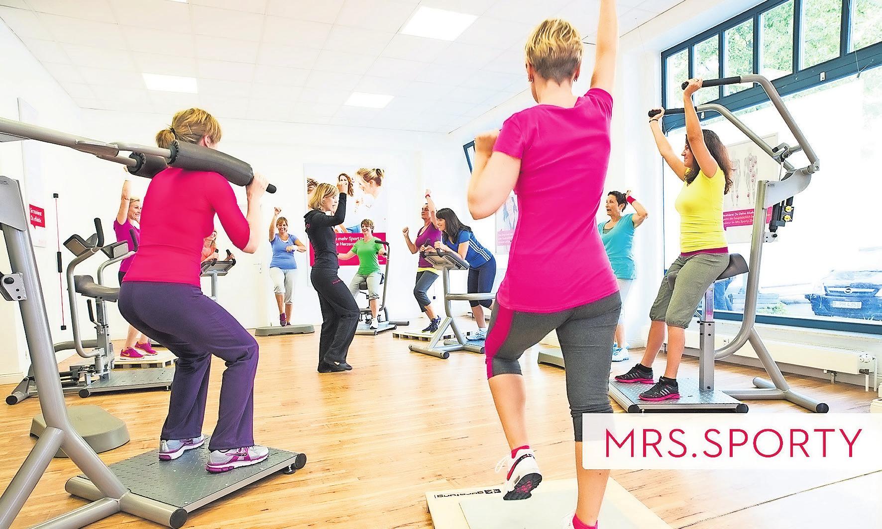 Gesundheit stärken durch Bewegung: Mrs. Sporty lädt ein zum Gratistraining während der Gesundheitswoche.Foto: Mrs. Sporty