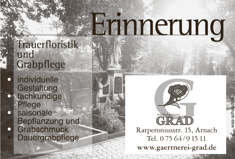 Friedhofsgärtnerei Grad