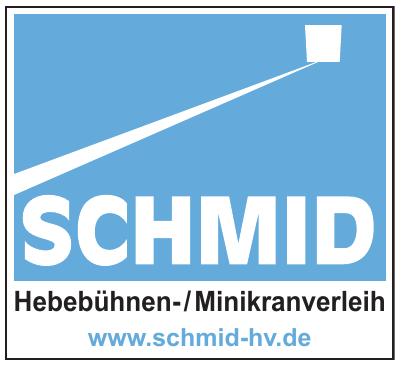 Schmid Hebebühnen-/Minikranverleih