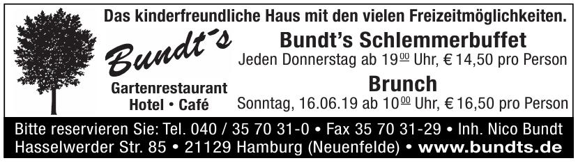 Bundts Gartenrestaurant Hotel - Café