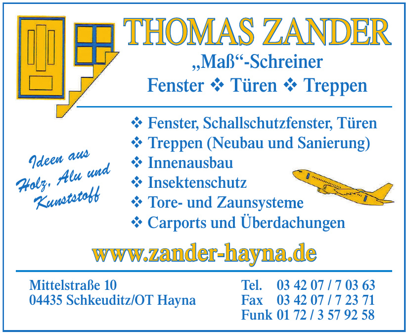 Thomas Zander Maß - Schreiner