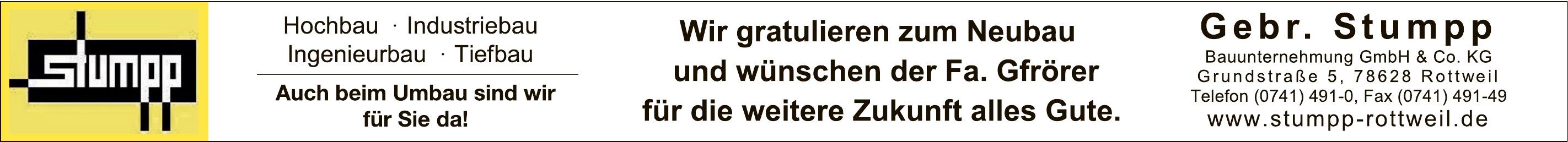 Gebr.Stumpp Bauunternehmung GmbH & Co. KG