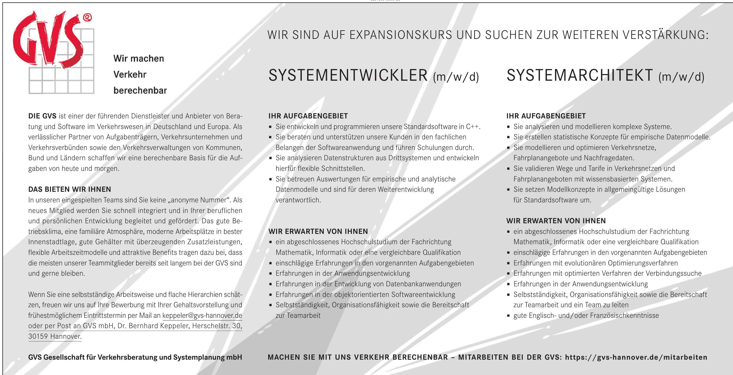 GVS Gesellschaft für Verkehrsberatung und Systemplanung mbH