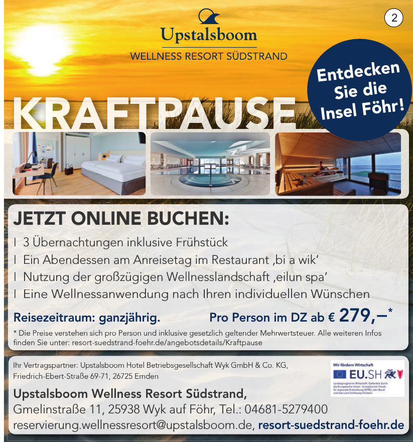 Upstalsboom Wellness Resort Südstrand