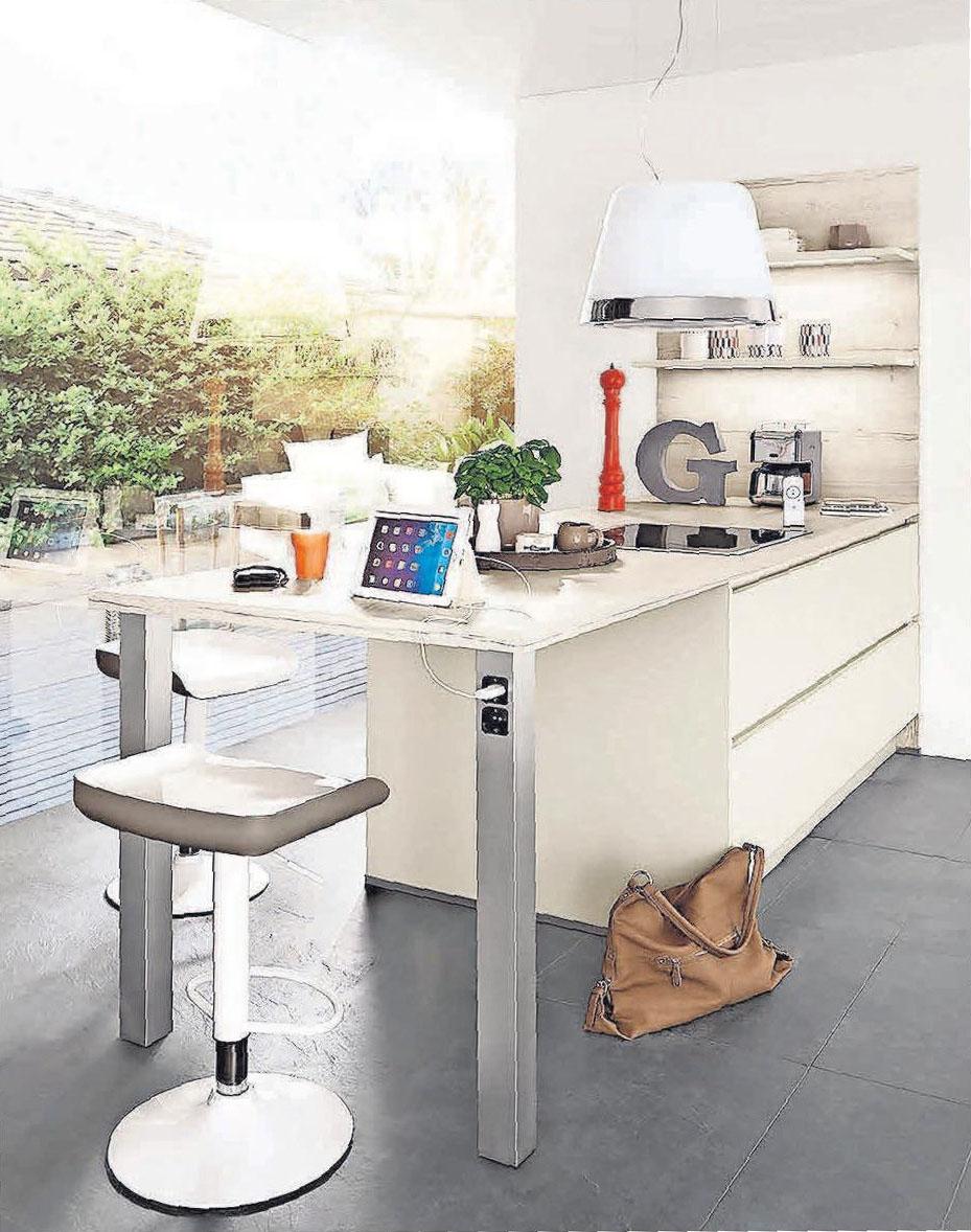 Auch so kann der helle und luftige Arbeitsplatz in der Küche aussehen. Foto: djd/Küchen Quelle GmbH