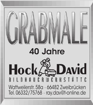 Grabmale Hock David Bildhauerwerkstätte