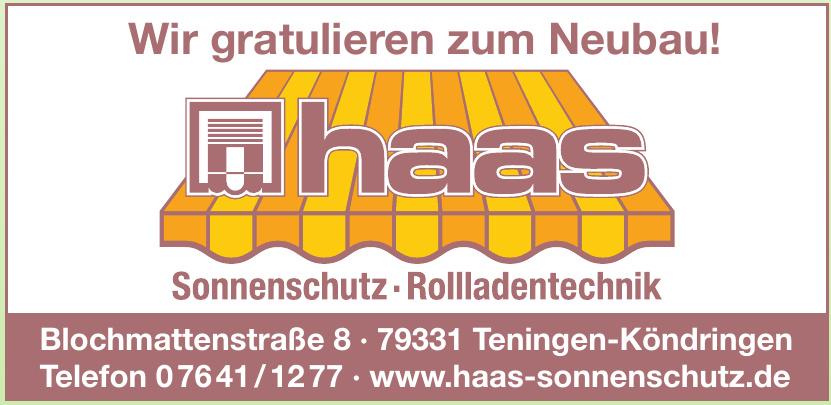 Haas Sonnenschutz und Rolladentechnik GmbH
