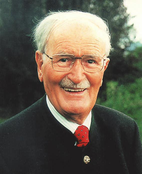 Hatte maßgeblichen Anteil an der Planung und Bau des Freibades: Senator e.h. Friedrich Schiedel. FOTO: JAHNEL, NINA