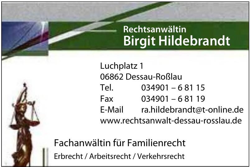 Rechtsanwältin Birgit Hildebrandt