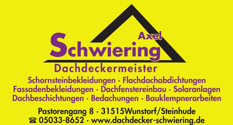 Axel Schwiering Dachdeckermeister