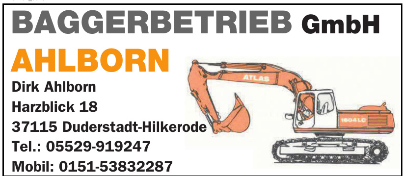Ahlborn Baggerbetrieb GmbH