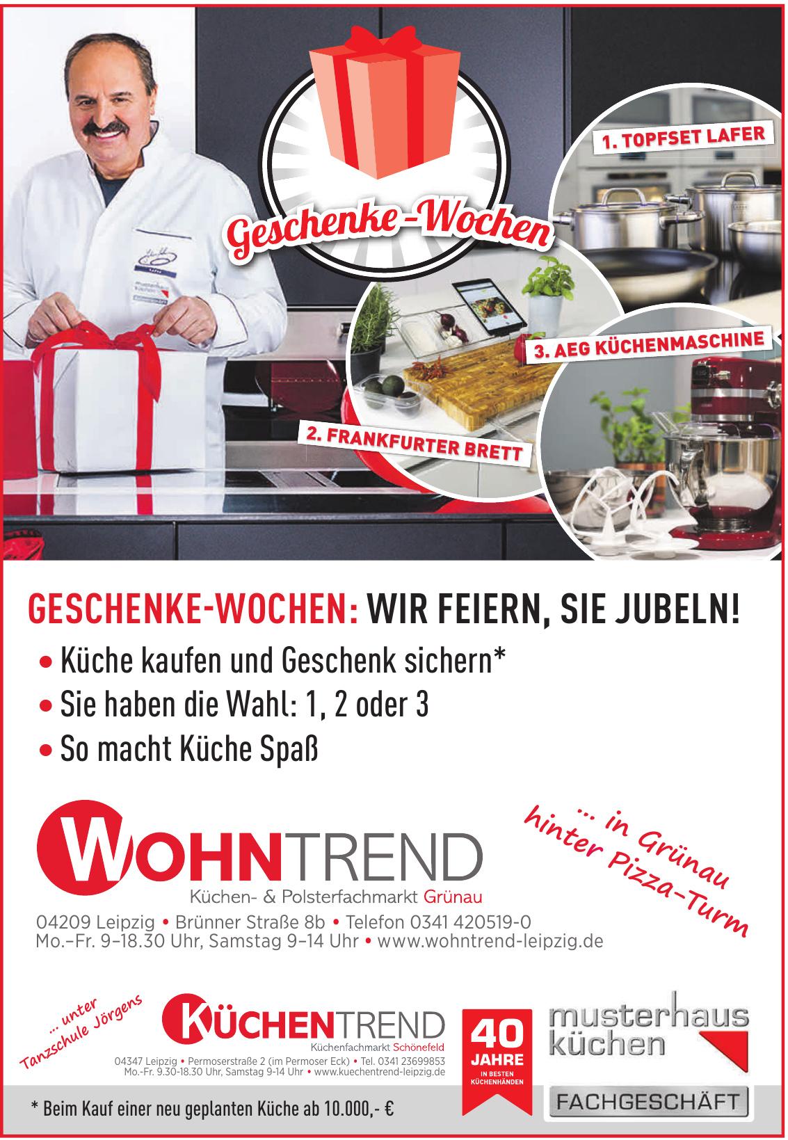 Wohntrend Küchen & Polsterfachmarkt Grünau
