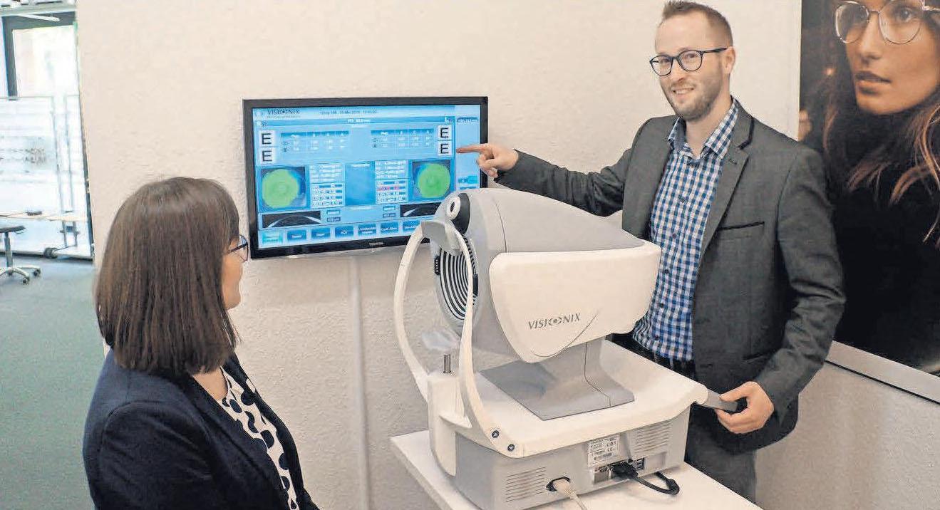 Mit dem Visionix VX 120 lassen sich medizinische Vormessungen durchführen.