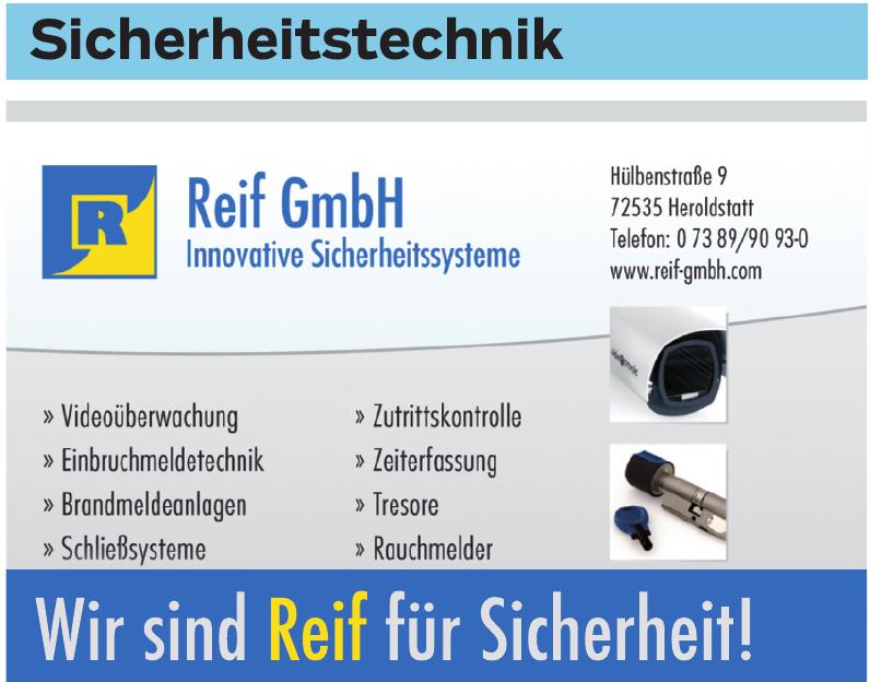Reif GmbH Innovative Sicherheitssysteme