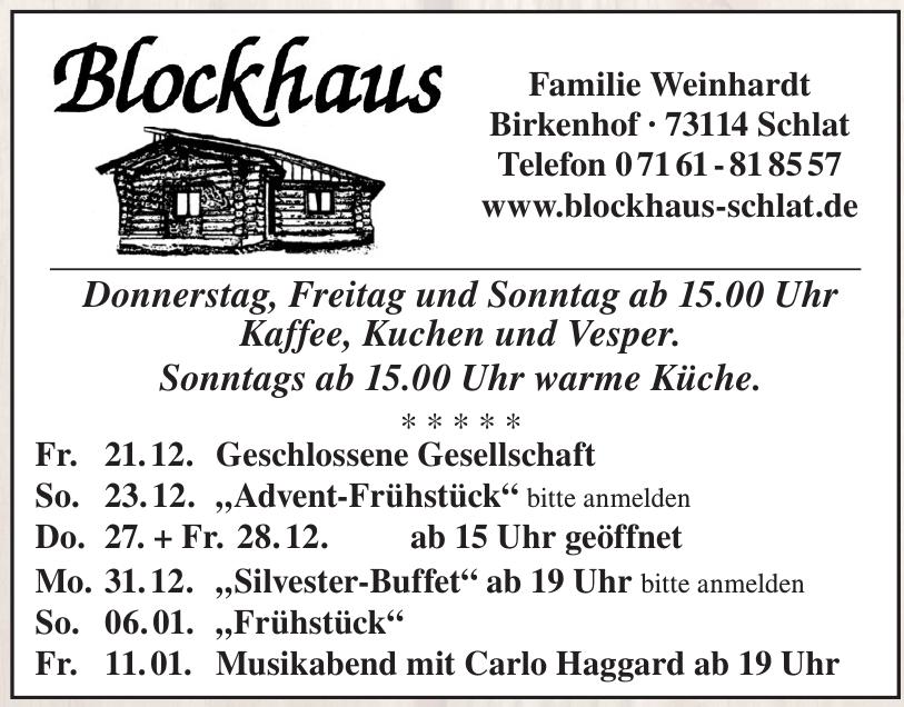Blockhaus Familie Weinhardt