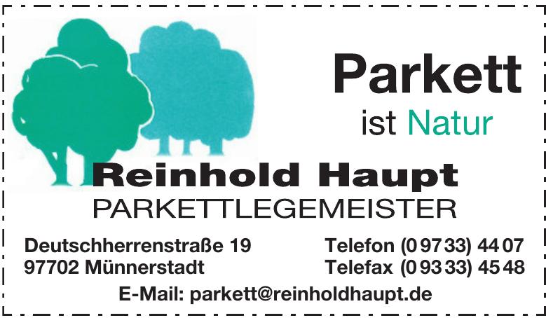 Reinhold Haupt Parkettlegemeister