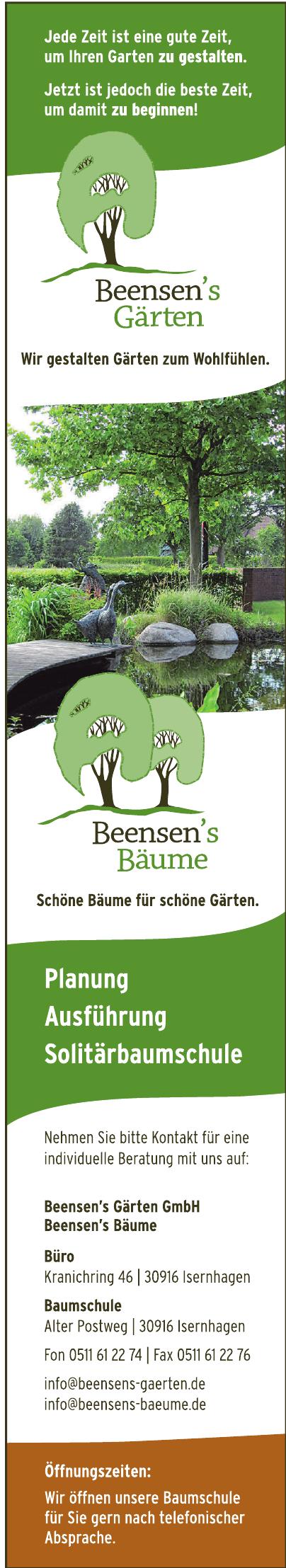 Beensen´s Gärten GmbH