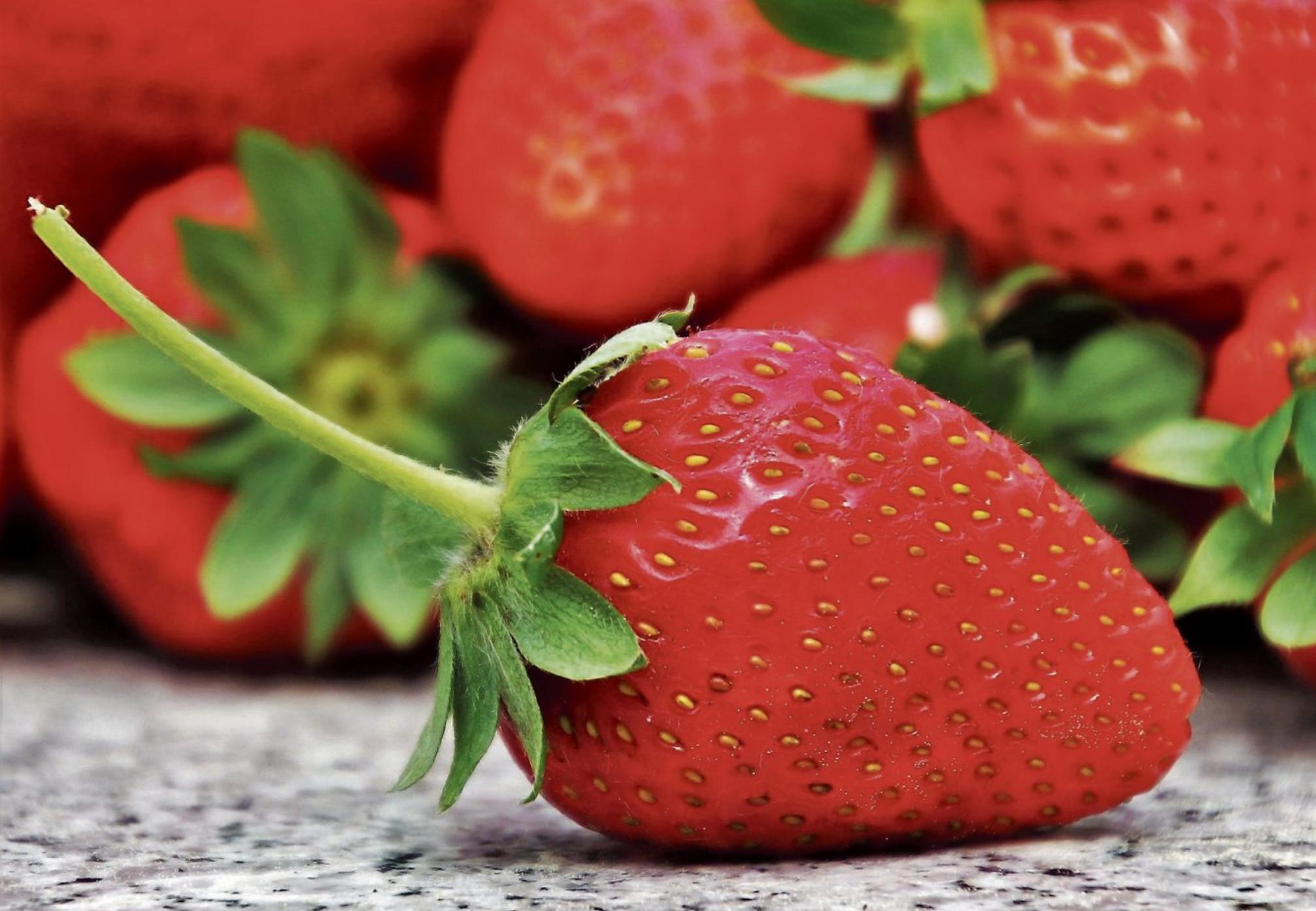 Erdbeeren sind nicht nur hübsch sondern auch noch richtig gesund. Mit ihrem Anteil an Kalium, Eisen, Magnesium und Kalziumbieten sie viele Mineralstoffe.