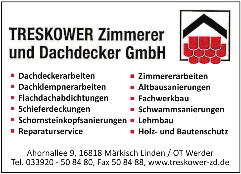 Treskower Zimmerer und Dachdecker GmbH