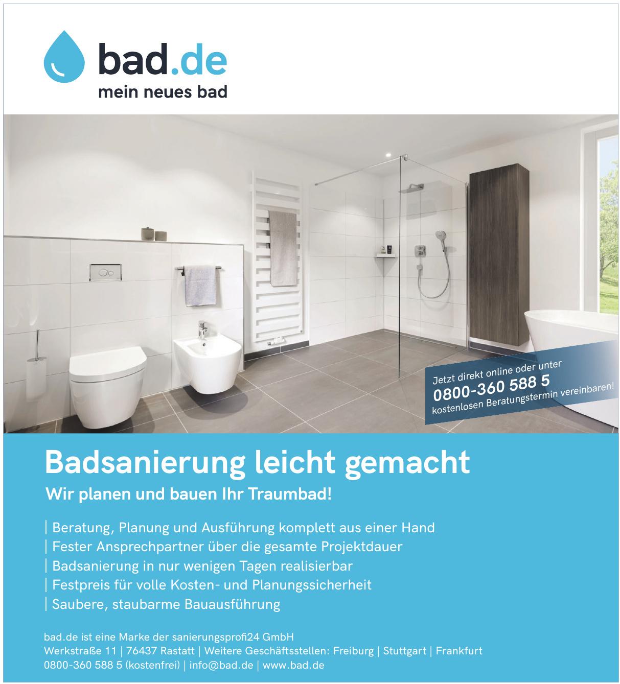 bad.de - sanierungsprofi 24 GmbH