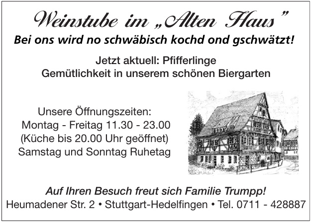 """Weinstube im """"Alten Haus"""""""