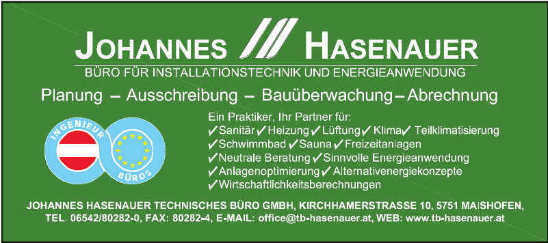 Johannes Hasenauer - Technisches Büro GmbH