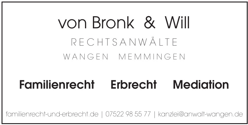 v.Bronk & Will Rechtsanwälte
