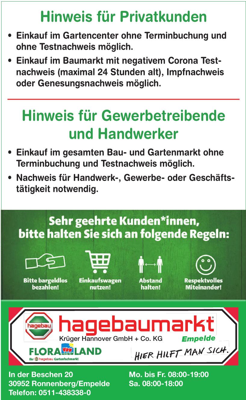 Hagebaumarkt - Krüger Hannover GmbH + Co. KG