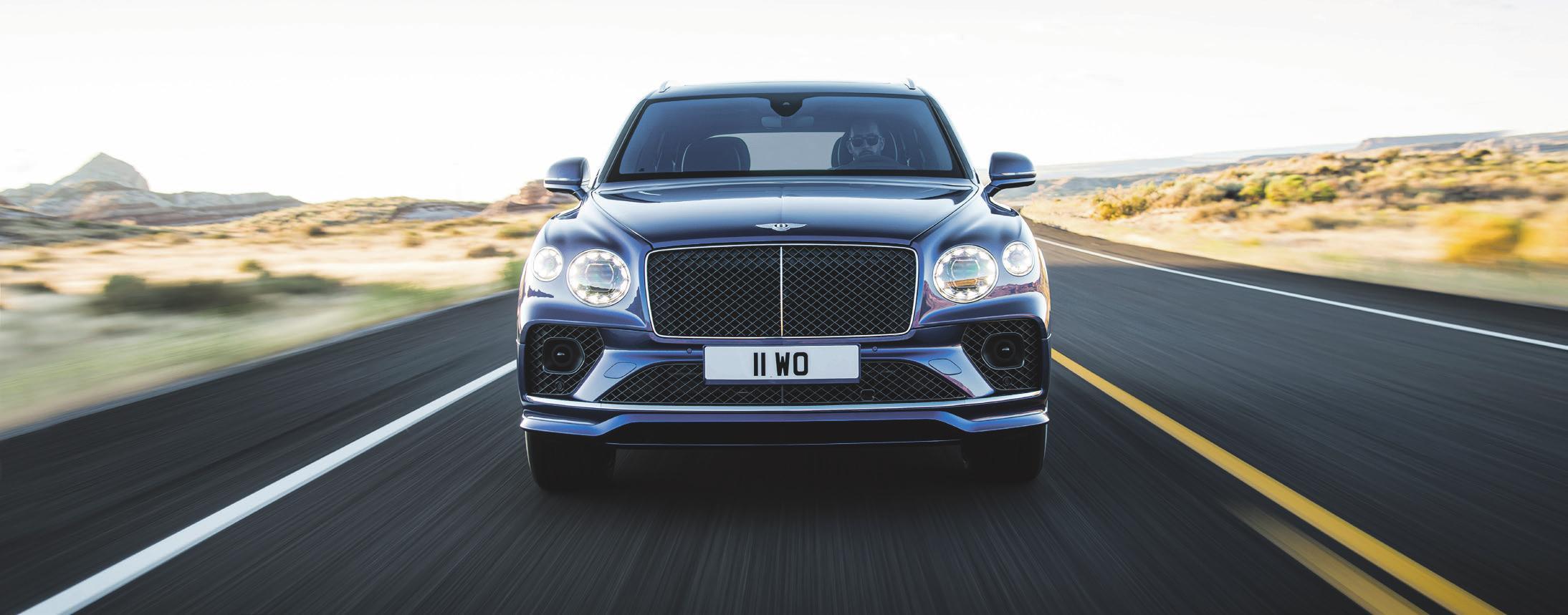 Der neue Bentley Bentayga V8: Die hintere Spurbreite wurde vergrößert und die Räder neu positioniert, sodass das SUV noch souveräner auftritt. Foto: Bentley Frankfurt