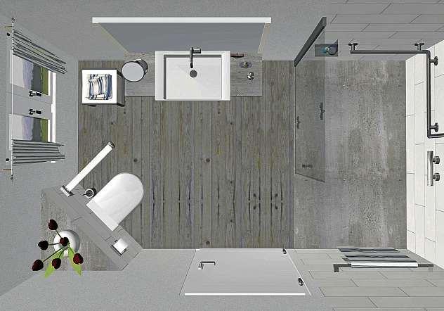 Die Firma Gebhardt & Sohn setzt die individuellen Wünsche der Kunden für ein barrierefreies Badezimmer um. FOTO: GEBHARDT & SOHN