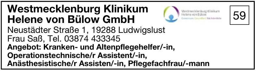 Westmecklenburg Klinikum Helene von Bülow GmbH
