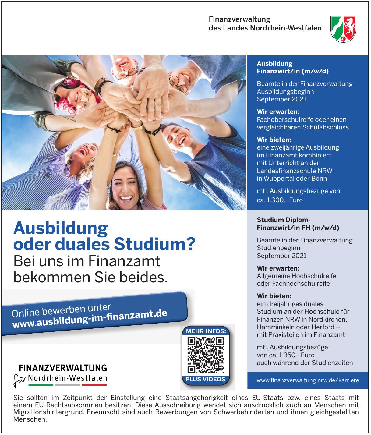 Finanzverwaltung des Landes Nordrhein-Westfalen