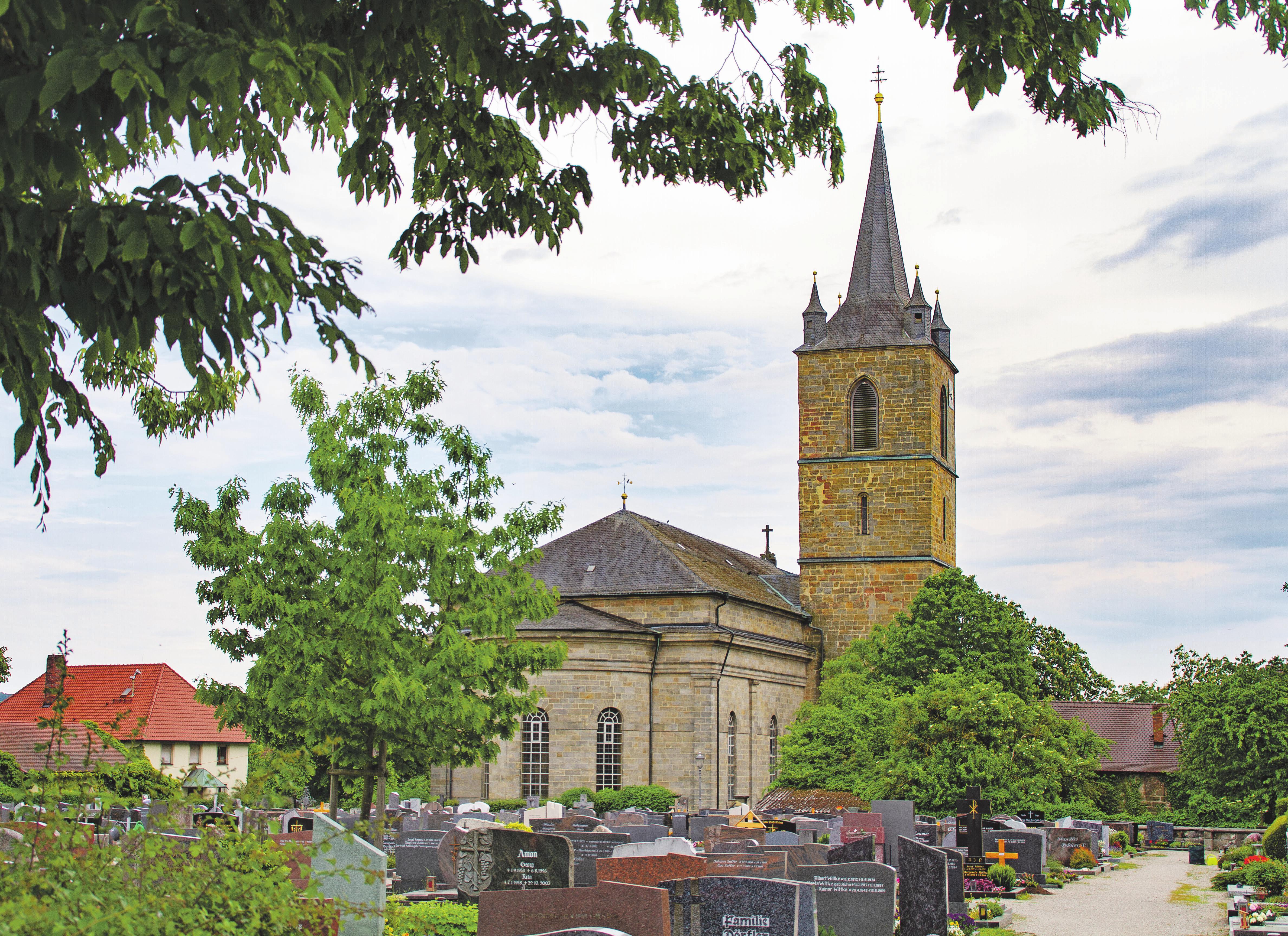 Die St.-Martin-Kirche ist eins von Eggolsheims Wahrzeichen. Fotos: Andreas Hofbauer