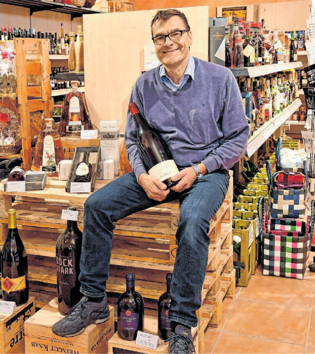 """Weinexperte Otto-Martin Edel als Weinliebhaber freut sich auf seine """"Edle Weinmesse"""" am kommenden Samstag."""