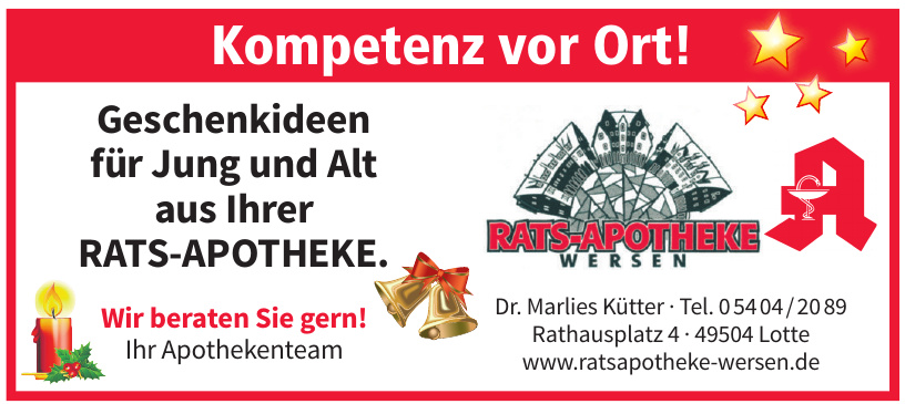 Ratsapotheke Wersen Dr. Marlies Kütter