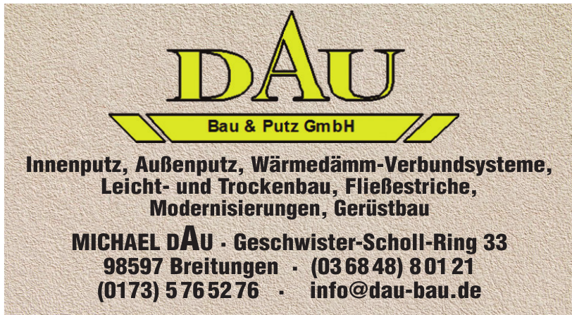 DAU Bau & Putz GmbH