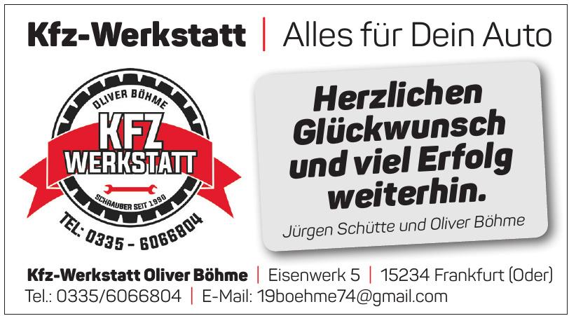 Kfz-Werkstatt Oliver Böhme