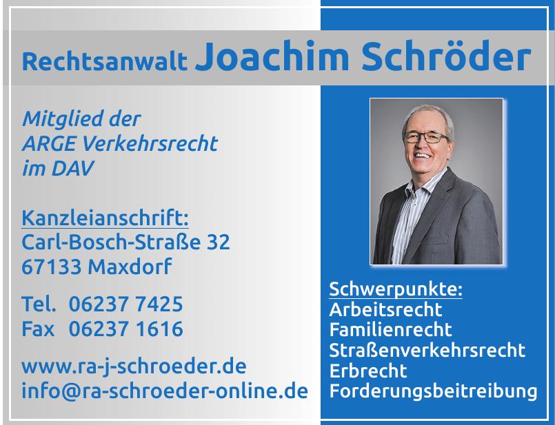 Rechtsanwalt Joachim Schröder
