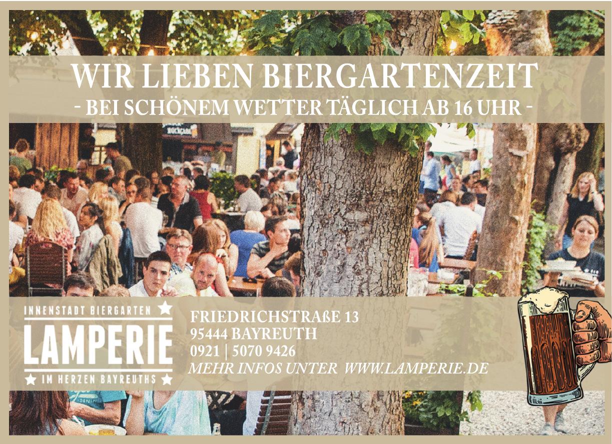 Innenstadt Biergarten Lamperie