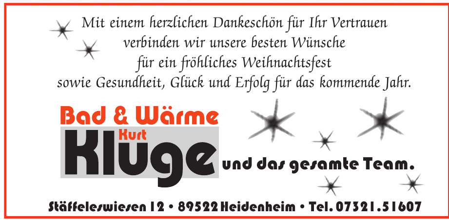 Bad & Wärme Kurt Kluge