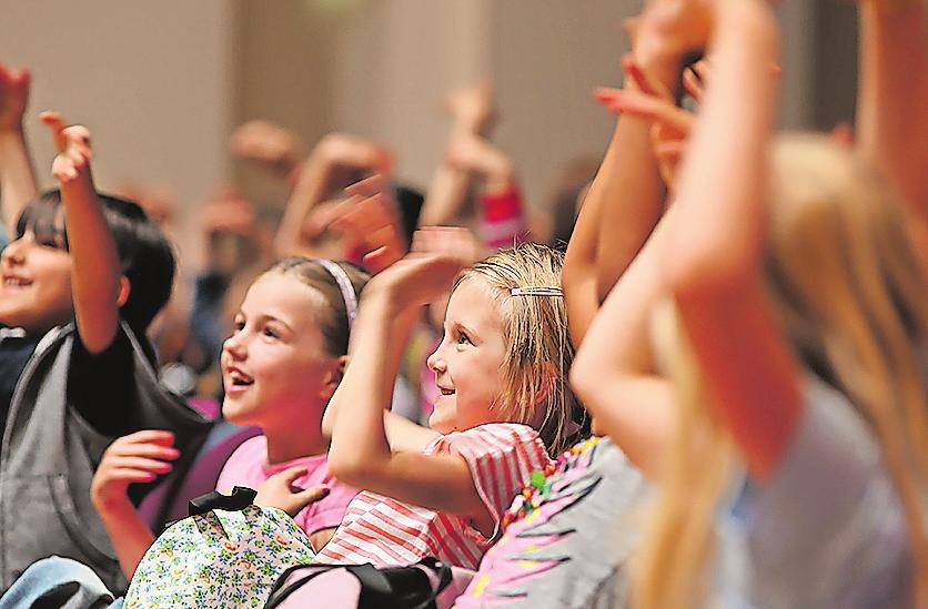 Fiebern mit: Kinder im DRP-Konzert.Foto: DRP/Astrid Karger/frei