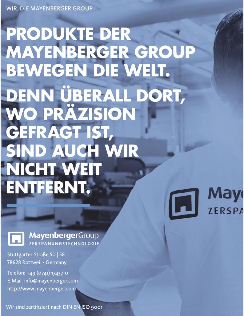 Mayenberger Group Zerspanungstechnologie