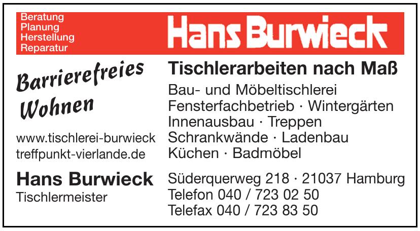 Hans Burwieck Tischlermeister