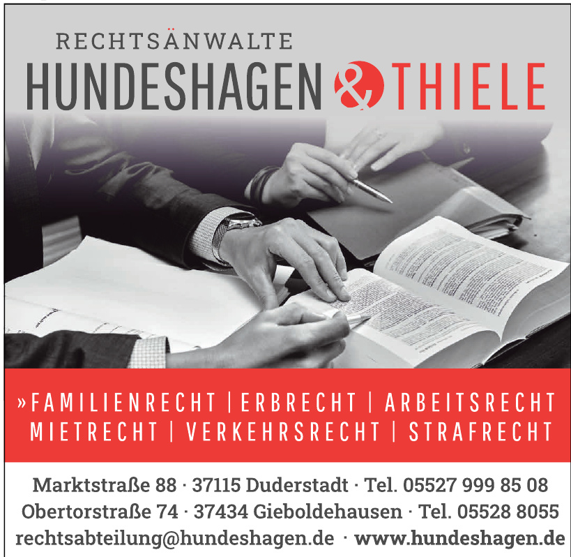 Rechtsanwälte Hundeshagen & Thiele