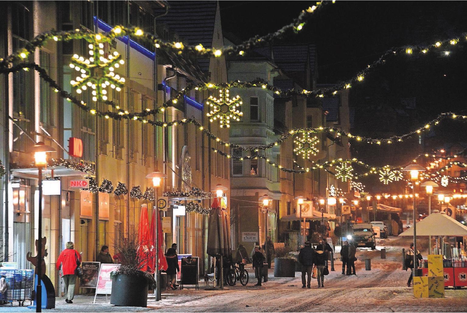 Sonneberg lädt zum verkaufsoffenen Sonntag bei weihnachtlicher Stimmung ein. Foto: Zitzmann