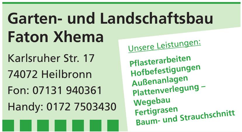 Garten- und Landschaftsbau Faton Xhema