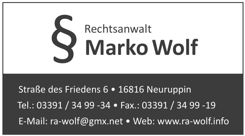 Rechtsanwalt Marko Wolf