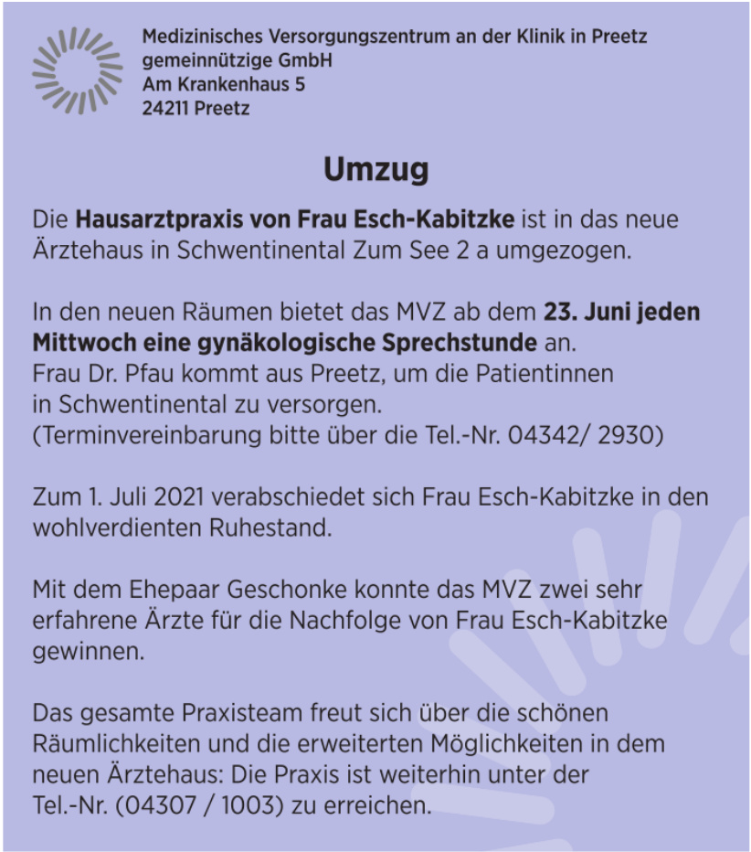 Medizinisches Versorgungszentrum an der Klinik in Preetz gemeinnützige GmbH