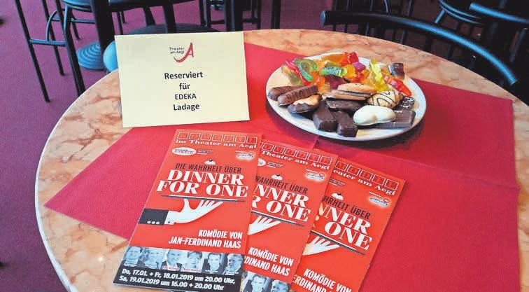 Die Tische für die EDEKA-Gäste waren liebevoll dekoriert.